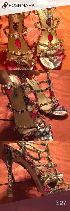 Selling this Strappy high heels on Poshmark! My username is: tati_tejeda. #shopmycloset #poshmark #fashion #shopping #style #forsale #Steve Madden #Shoes