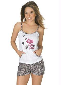 Pijama de Alça com Short Estampado
