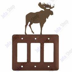 Moose Triple Rocker Metal Switch Plate Cover