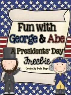 This activity is too cute! Fun With George & Abe {A Presidents' Day Freebie}