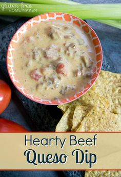There is something fun about making a meal out of appetizers, and you can certainly do that with this hearty beef queso dip. It has all the spicy, cheesy, goodness of most queso dips with the addition of ground beef.