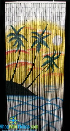 Each curtain is made of the highest quality materials:90 Strands of bamboo beadsIndividual bamboo beads strung on wire, linked togetherBeads hand painted on all sidesPicture visible from all an