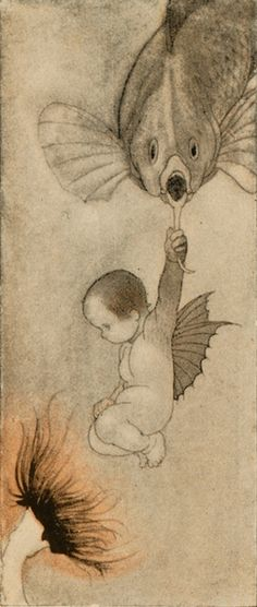 Water baby by Charles Robinson. Simply adorable!
