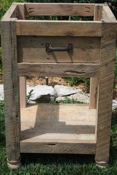 Danielle's Custom Rustic Barn Wood Vanity or Cabinet with a Shelf