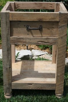 Your Custom Rustic 24' Barn Wood Vanity Or Cabinet With A Shelf