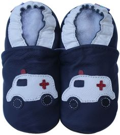 carozoo siren ambulance dark blue 6-12m soft sole leather baby shoes in Clothing, Shoes & Accessories, Baby & Toddler Clothing, Baby Shoes | eBay