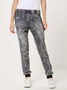 LOOSE FIT TROUSERS, Medium Grey Denim