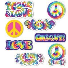 Feeling Groovy Cutouts 30ct - Party City