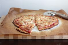 The Lucky Penny: The BEST Cauliflower Crust Pizza!the best cauliflower crust pizza! Almond Recipes, Gluten Free Recipes, Low Carb Recipes, Real Food Recipes, Cooking Recipes, Yummy Food, Healthy Recipes, Pizza Recipes, Potato Recipes