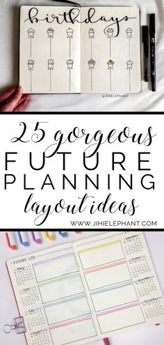 25 Gorgeous Future Planning Layouts You Need Do you use future logs, or another form of future planning in your bullet journal? There are countless ways to plan for the future; there are future logs, Future Log Bullet Journal, Bullet Journal Birthday Tracker, Monthly Bullet Journal Layout, Bullet Journal 2019, Bullet Journal Inspo, Bullet Journal Spread, Bullet Journal Events, Bullet Journal Yearly Overview, Bullet Journal Ideas Templates