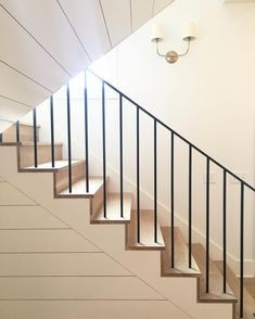 Simple stairs with shiplap