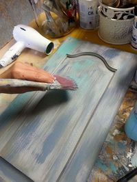 no sanding layered look using chalk paint by annie sloan, chalk paint, painted furniture