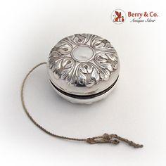American sterling silver cover Art Deco style yo-yo toy by Gorham Silversmiths.