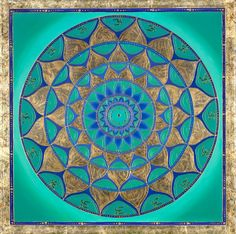 After spending the day at the beach and looking at the sea. This inspired me today. I love the energy the color makes me feel alive. Mandalas.com--The Art of Paul Heussenstamm