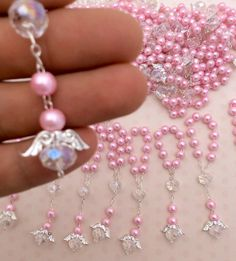 60 pcs Angel Pearl rosaries mini rosaries decade por AVAandCOMPANY