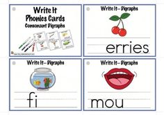 Write It Phonics Cards for Consonant Digraphs