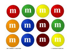 """M Printable for a bulletin board for M math. They are the exact size of a 2"""" round punch sold at any craft store when printed on 8.5X11 size paper."""