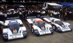 (3) Al Holbert / Hurley Haywood / Jürgen Barth - Porsche 956 - Porsche System - (2) Jochen Mass / Vern Schuppan - Porsche 956 - Porsche System - (1) Jacky Ickx / Derek Bell - Porsche 956 - Porsche System - L Grand Prix d'Endurance les 24 Heures du Mans - 1982 FIA World Endurance Championship, round 4
