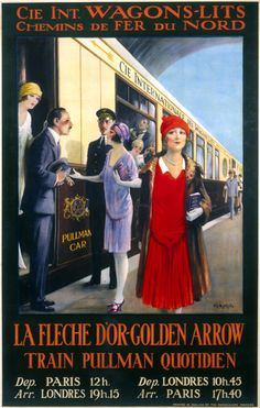 French rail poster