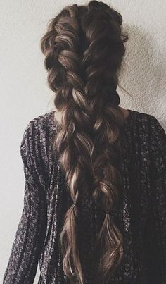 double dutch pigtail braids | long hair ideas