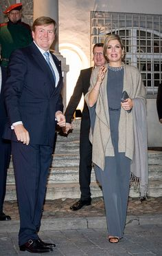 King WillemAlexander and Queen Maxima of The Netherlands visit Prime Minister Haseloff in the Rathaus for an dinner during their 4 day visit to...