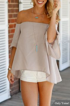 Asymmetrical Sleeves Off Shoulder Loose Backless Top