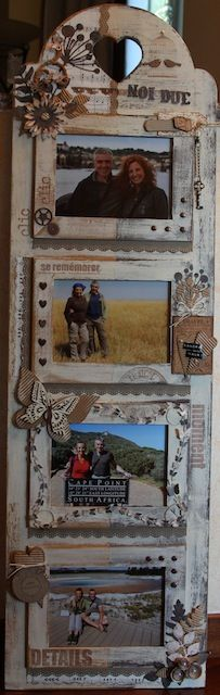 Shabby altered frame (by Sandra)