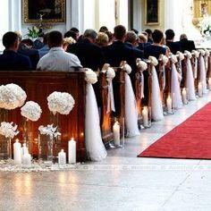 Church Pew Wedding Decorations, Blue Wedding Centerpieces, Pew Decorations, Wedding Pews, Wedding Lanterns, Wedding Flowers, Wedding Church, August Wedding, Reception Table