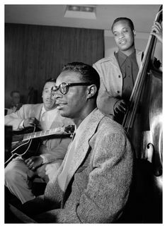 Oscar Moore, Nat King Cole, and Wesley Prince, New York, N.Y., ca. July 1946 William P.Gottlieb,
