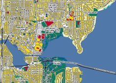 Seattle as Pop Artist Roy Lichtenstein Would've Mapped It - Cool Map Thing - Curbed Seattle