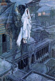 Satan Tried To Tempt Jesus, 1895 James Tissot Catholic Art, Religious Art, Jesus Is Lord, Jesus Christ, Satan, Jesus Art, Bible Pictures, Bible Images, Biblical Art