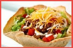 How to Make Taco Shell Salad Bowls with a Muffin Tin -doing this tonight =)