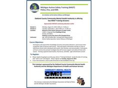 ASD News Michigan Autism Safety Training (MAST) Police, Fire, and EMS - http://autismgazette.com/asdnews/michigan-autism-safety-training-mast-police-fire-and-ems/