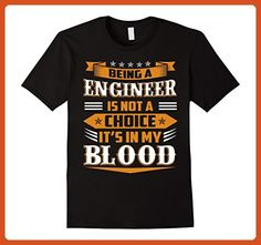 Mens Being A Engineer Is Not A Choice T-Shirt 3XL Black - Careers professions shirts (*Partner-Link)
