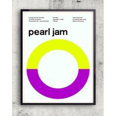 Pearl Jame 1991 Lime Framed Wall Art