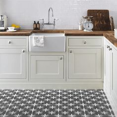 Laura Ashley Wicker Charcoal Floor Tiles - 331 x 331mm - LA51980