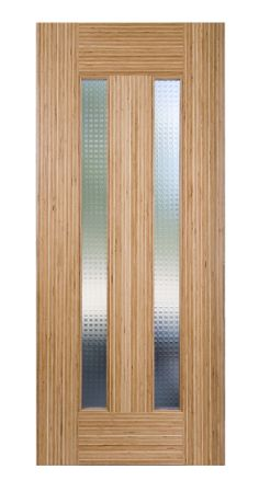 This is an LVL stile and rail door from TruStile's Tru & Modern Collection.  It includes decorative glass.