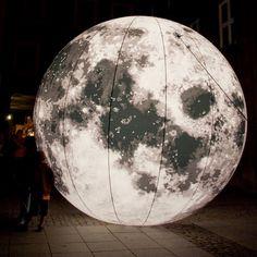 Sculpture by Bruno Peinado.  #art #sculpture #moon