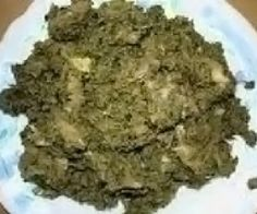 Pondu: Congolese recipe for a stew of cassava leaves with garden eggs and tinned fish