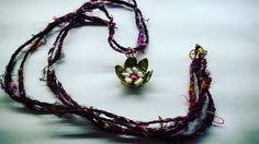 silky necklace χειροποιητο κολιε απο μεταξι