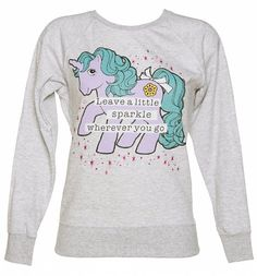 Ladies Glitter My Little Pony Leave a Little Sparkle Sweater : Main