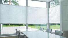 Find your look by browsing inspirational pictures of our custom XL pleated shades.