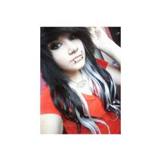 My Hair is Emo ❤ liked on Polyvore featuring hair, people, girls, hairstyles and hair styles