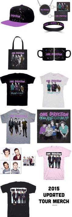 2015 Updated OTRA Tour Merch! these are available online and at the concert. // @Tati1D5