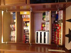 My newly organized spice cabinet!