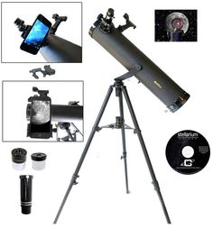 Galileo 800 X 95mm Astronomical Telescope and Red Dot Finder Scope and Stellarium Cd