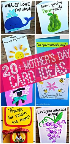 20+ Fun and easy to make Mother's Day cards that will put a smile on her face! #MothersDay #MomentsWithMom #Cards