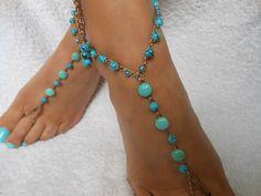 Crochet Barefoot Sandals Beach Wedding  Yoga Shoes Foot Jewelry Blue Turquoise by MyKnitCroch on Etsy https://www.etsy.com/listing/240234175/crochet-barefoot-sandals-beach-wedding