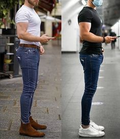 Men Street Look, Street Wear, Stylish Men, Men Casual, Fashion 2020, Mens Fashion, Chelsea Boots Outfit, Superenge Jeans, Casual Outfits