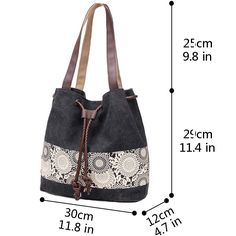 Hiigoo Printing Canvas Shoulder Bag Retro Casual Handbags Messenger Bags (Grey): Handbags: Amazon.com Leather Bags Handmade, Handmade Bags, Ethnic Bag, Potli Bags, Denim Tote Bags, Diy Handbag, Bag Patterns To Sew, Fabric Bags, Canvas Shoulder Bag